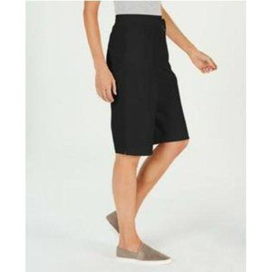 Karen Scott Pull-On Knit Skimmers Short Deep Black